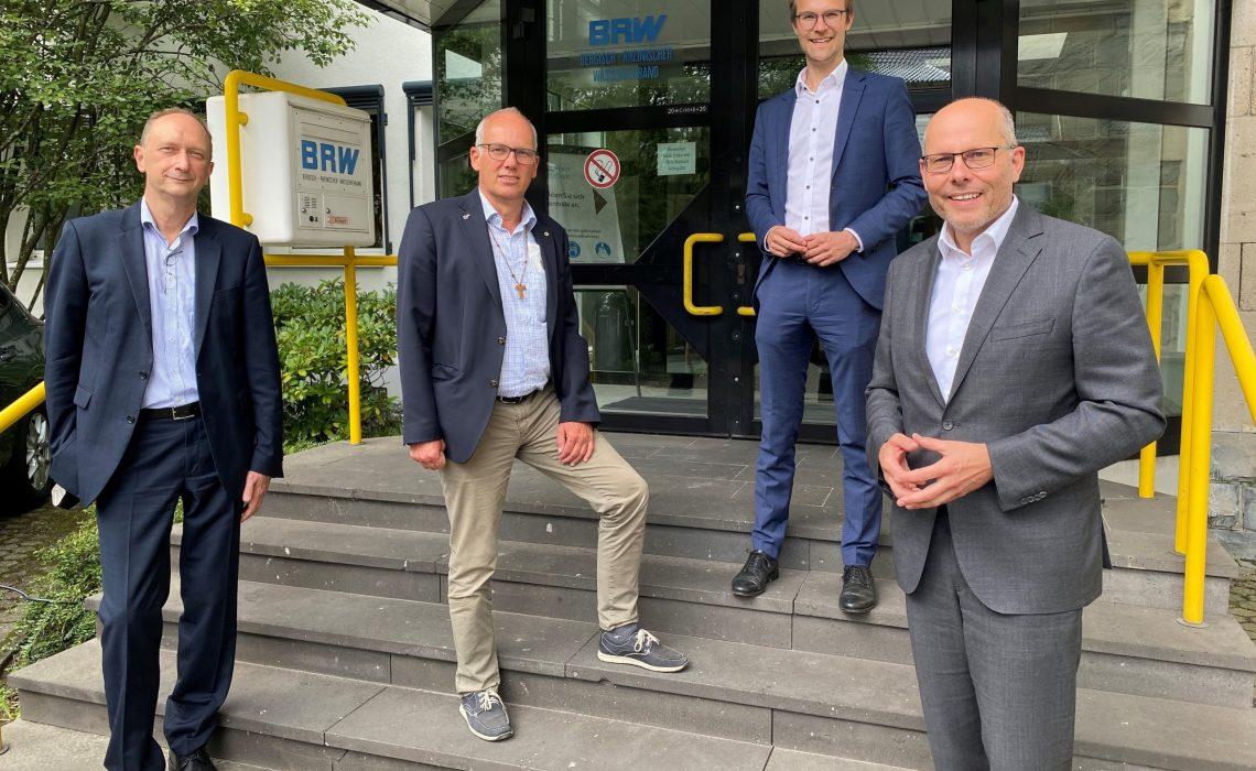 Büro Dr. Untrieser MdL, v.l.n.r.: Dr. Klaus Wiener, Martin Sträßer MdL, Dr. Christian Untrieser MdL, Peter Beyer MdB